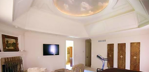 Recessed Lighted Ceiling Domes